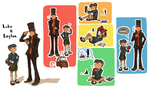 Professor Layton Secret Santa by mag-ni
