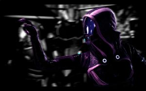Mass Effect 2: Tali points by Cerrydd