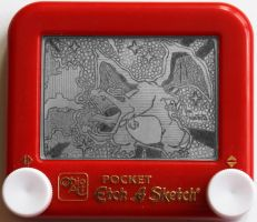 Charizard etch a sketch by pikajane