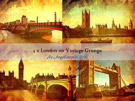 London on Vintage Grunge by AngelEowyn