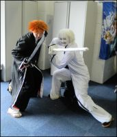 Ichigo and Hollow Ichigo by MJ-Cosplay