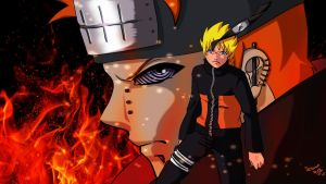 Naruto vs. Pain by Seriina06
