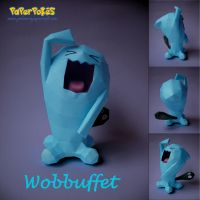 Wobbuffet Papercraft by xDCosmo
