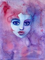 Watercolor face by NeMi09