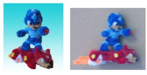 Megaman 'Rush Jet' by fuzzyfigureguy