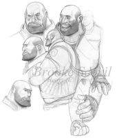 TF2 Heavy -studies- by birdofyore