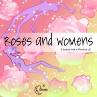 Roses and Women Brushes by Coby17