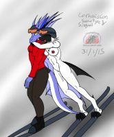 Commission: Snowfyre and Signal by Snowfyre