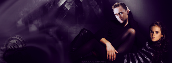 Emma Watson et Tom Hiddleston by AkilajoGraphic