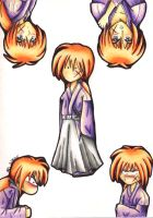 The Many Faces of Kenshin by kendranoelle