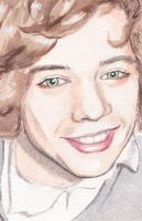 Harry Styles Green Eyes by PoorMedea