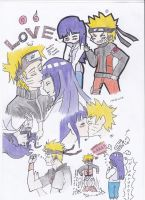 NaruHina Sketch Dump by thunderboltdrawer15