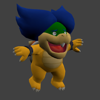 CGI render:Freaked out Ludwig von Koopa by Aso-Designer