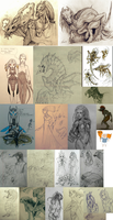 sketches 2015 (01-04) by VentralHound