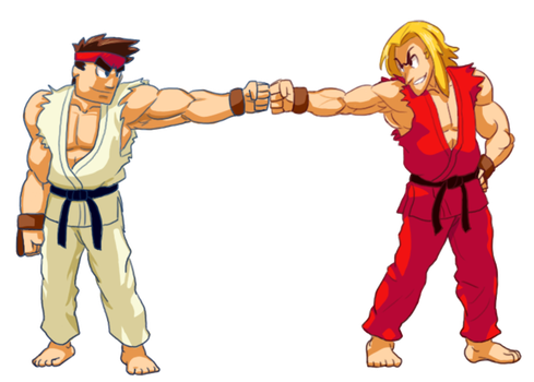 Simmons and Max, Ryu and Ken by CWiet