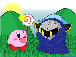 Kirby and Meta Knight by Rotommowtom