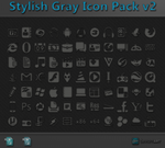 Stylish Gray Icon Pack v2 + PSD by WwGallery