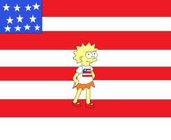 Lisa in Her USA Flag Shirt by kitty55501