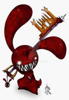 Blood bunny keyblade finish by Joakaha