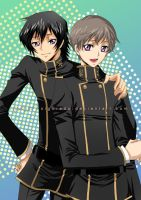 Lelouch and Rolo by siguredo
