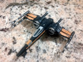 The Black Series: Poe Dameron's T-70 X-Wing by Rockyrailroad578
