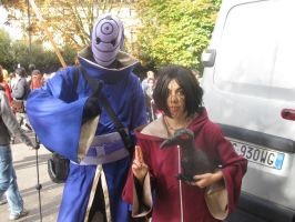 Cosplay Itachi edo tensei and Tobi 2 by stellinanera
