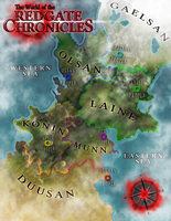 Redgate Chronicles Map by EjLowell