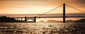Sunset  Golden Gate Bridge by xelement