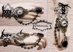 Gypsy tribal bracelet by Pinkabsinthe