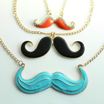 Mustache Necklaces by MonsterBrandCrafts