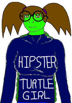 Hipster Turtle With Round Glasses by XxRobotChaoxX
