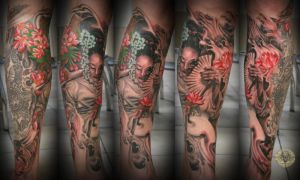 Geisha asia style final color by 2Face-Tattoo