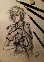 Sketch of Sora (Kingdom Hearts) by FairyFaily