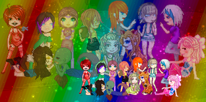 .:COLLAB: DONE:. Rainbow colored by doris4u