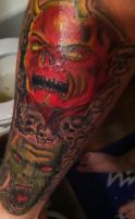 demon skulls, and zombie by soldiersinktattoos