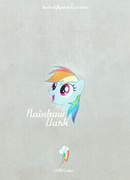 Rainbow Dash Retro Poster by automaticlolXD