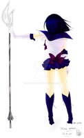 Sailor Saturn - Lineart Colored by banachana