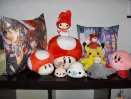 My plush and pillow collection by izaioi