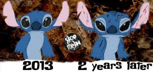 Stitch before and after taking methamphetamine col by Wilku333