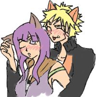 naruto x hinata kitty by lockoneyes