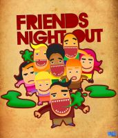 Friends Night Out by Bakus-design