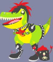 Rockin' Rex and T-Cup by Satarii