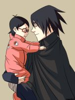 Papa Sasuke by chrisjericholover