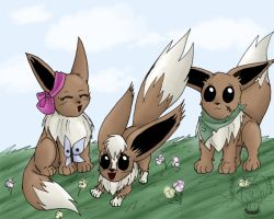 Eevee Family by kojika