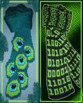 Binary and Feather Scarfs by MadMouseMedia