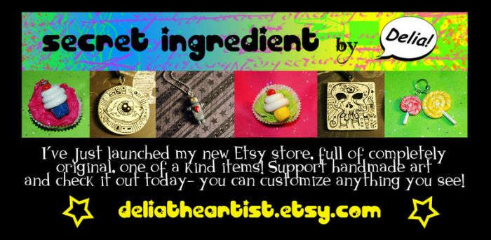 Etsy Store Launch by DeliaTheArtist
