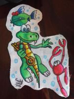 Croc - Cloth painting test by Haruka-Tavares