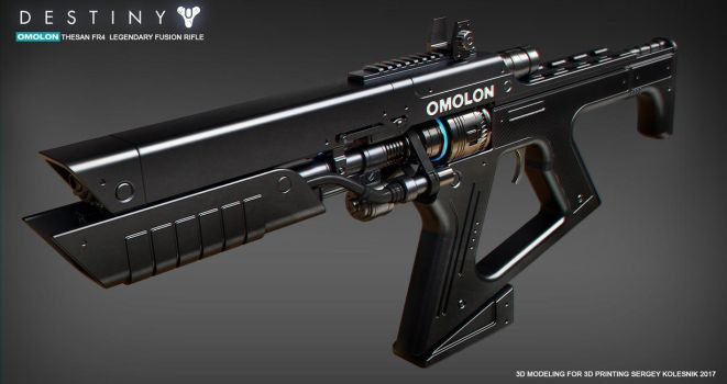 Omolon THESAN FR4 Legendary Fusion Rifle by ksn-art
