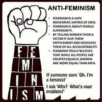 Anti Feminism Poster by BowtiesRcool11