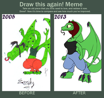 Draw This Again! Meme by AdzStitch